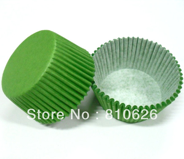 Free Shipping 500pcs Green Plain Color cupcake Liners baking cups cake mould cupcake paper bakeware(China (Mainland))