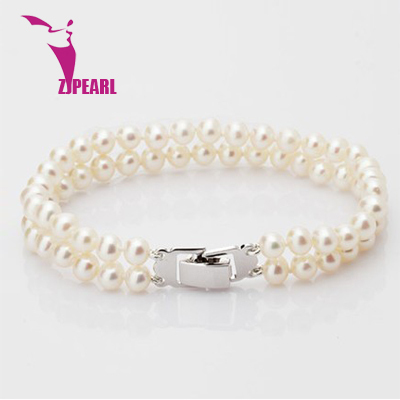 ZJPEARL design 2014 new natural freshwater pearl jewelry ms rose gold buckle Hand Drops of water natural pearl catenary
