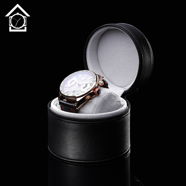 Wholesale Black Leather Watch Box High Quanlity Simple Watch Storage Case Fashion Watch Gift Boxes A077(China (Mainland))