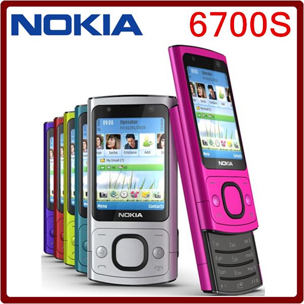 Original 6700s NOKIA Mobile Phone Camera 5.0MP Bluetooth Java Unlocked 6700 slide Phone(China (Mainland))