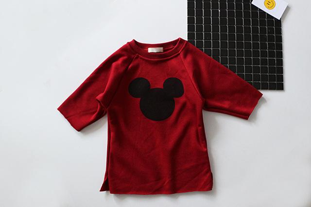Девушки плюс бархат свитер дети ребенок не падает вниз в долгосрочной разделе свитер мультфильм рубашка возраст от 18 м-5 Т
