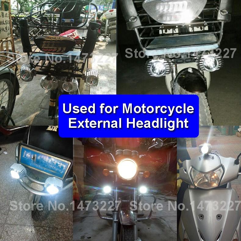LED DC 8-85V Motorbike Motorcycle External Headlight Fog DRL Lamp Bulb Light Scooter ATV Bike High Quality For Driving Hunting (9)