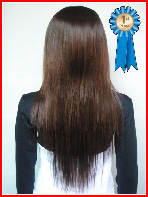 New Fashion/High quality,28Inches 190G Silky straight Synthetic wigs for 3 color (#2 black,#2t33 dark brown,#2t30 light brown)