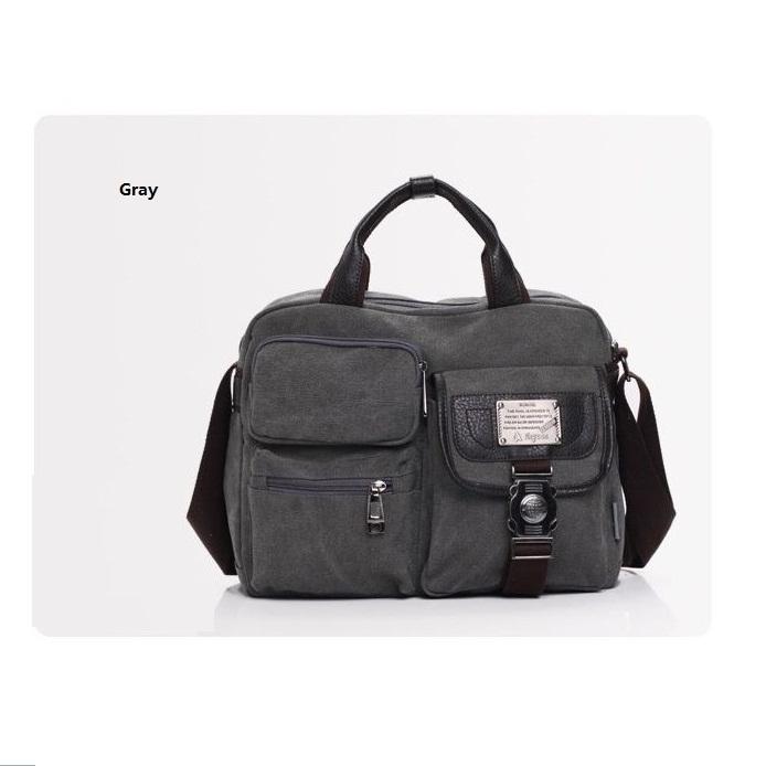 Hot New mode hommes Satchel embrayage main épaule toile voyage sacs sac(China (Mainland))