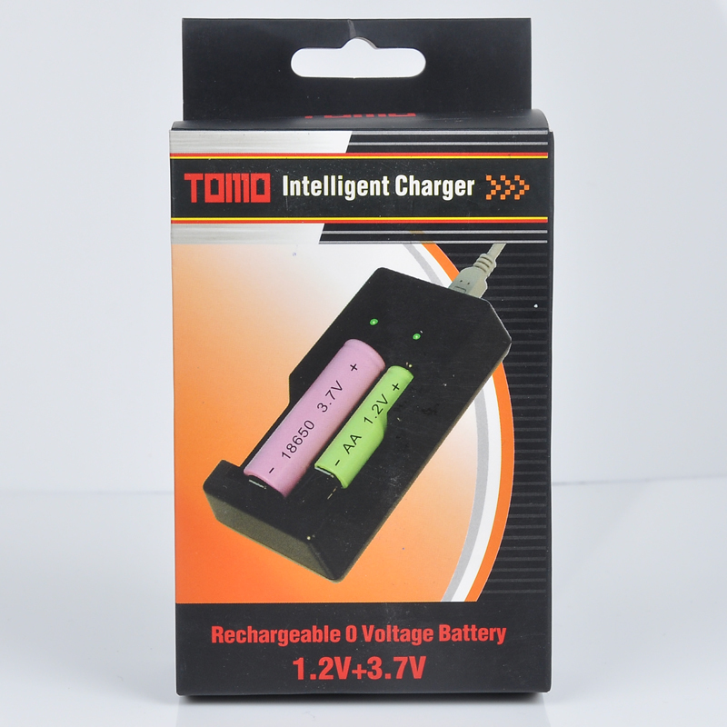 TOMO V6 battery charger Adapter - 3.7V/18650 18500 17650 16340 14500 10500,1.2V/AA AAA battery intelligent universal chargers(China (Mainland))