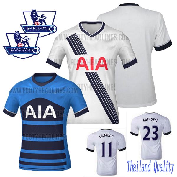 Top! Thailand quality!2015 2016 Tottenham Home White Jersey Kane ERIKSEN Lamela Jerseys Ador Chadli 15/16 Football Shirt(China (Mainland))