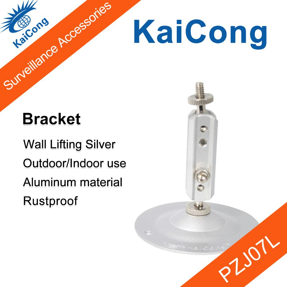 Stand CCTV Camera Bracket Aluminum Rustproof Universal Monitor Accessories Outdoor/Indoor Silver Presented Screws KaiCong PZJ07L(China (Mainland))