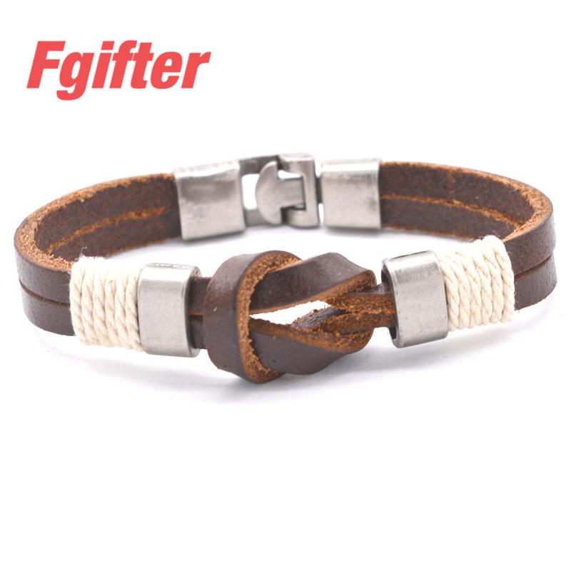 The Unique Design Infinite Bowknot Bracelets Genuine Leather Cuff Bracelets Men Women Jewelry(China (Mainland))