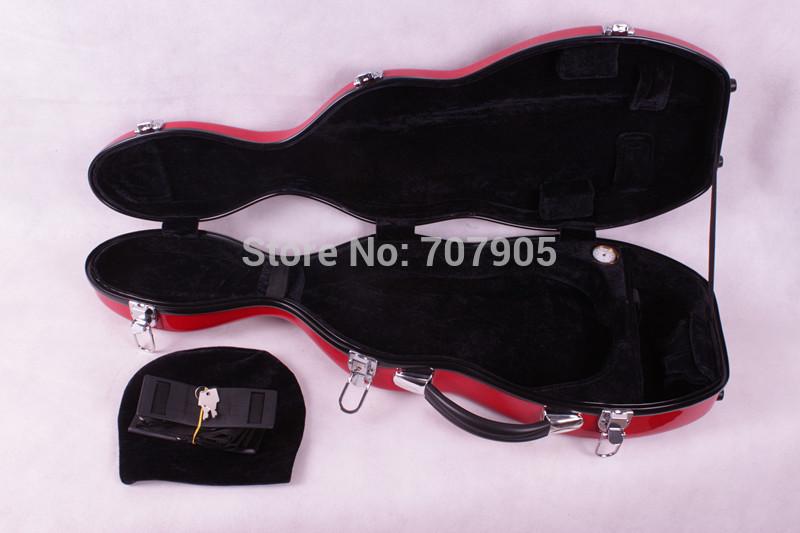 Фотография red 4/4 Violin case Glass Fiber Soft Imitate Leather Skin White Black #GF1
