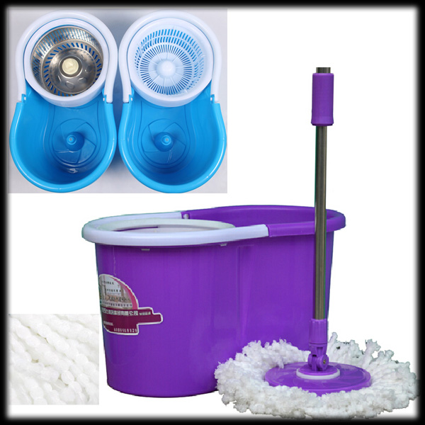 by DHL or EMS 50 pieces Magic Spin Mop Bucket Rotate 360(China (Mainland))
