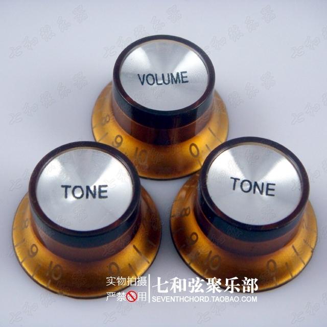 Aluminum sheet deep gold knob/electric guitar volume knob/timbre knob/potentiometer cap <br><br>Aliexpress