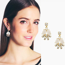 New 2014 stud earring Trendy fashion korean earring shell vintage 2 colors statement Earrings for women jewelry  WEH92(China (Mainland))