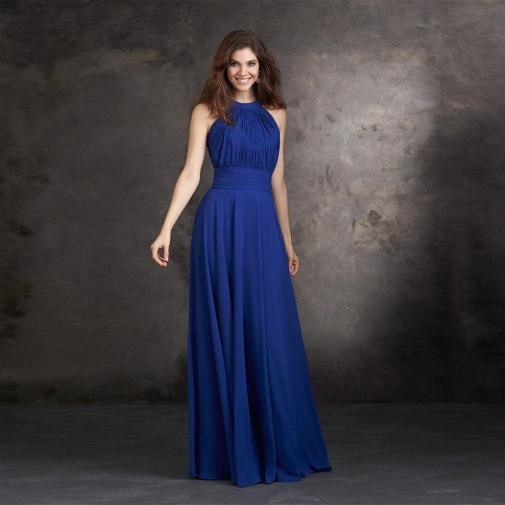 Blue long dress wedding - Dress on sale