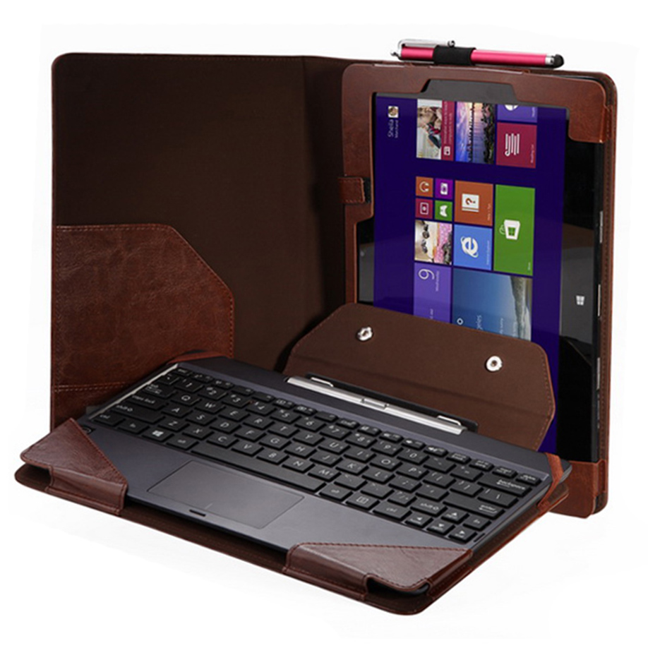 """Free Shipping&WholesaleFor 10.1"""" ASUS Transformer Book T100TA Triple Keyboard Leather Case+Stylus Onfine Leo(China (Mainland))"""