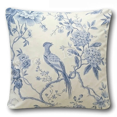 Country Blue Throw Pillows : French Country Ivory China Blue Linen Cotton Cushion Cover Chinoiserie Inspired Classic Throw ...