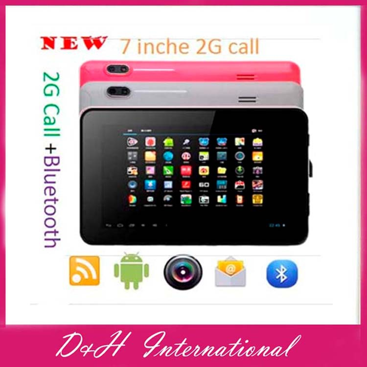 "Top sales Dual core A23 Call tablet Dual Cameras 7 inch Android 4.0 Allwinner 2G Call Tablet pc Cortex A8 7"" Bluetooth tablet(Hong Kong)"