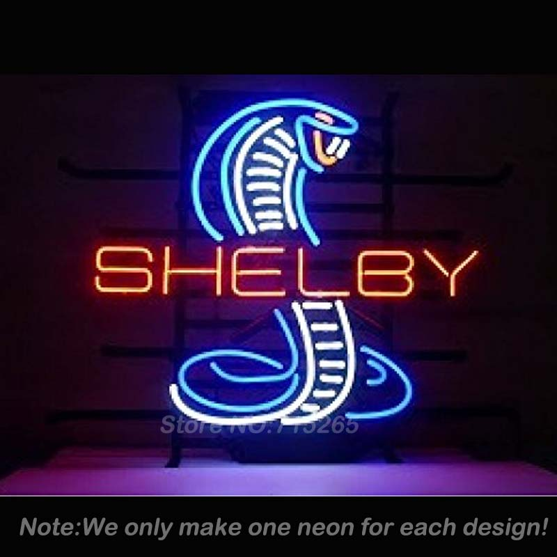 Shelby Snake Neon Sign Decorate Real Glass Tube Cool Neon Bulbs Recreation Room Garage Outdoor Frame Sign Store Display VD17x14(China (Mainland))
