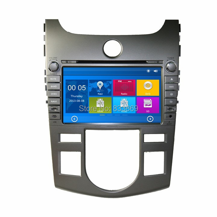 """HD 2 din 8"""" Car Radio DVD GPS Navigation for Kia CERATO /FORTE (AT) 2008-2012 With 3G /DVR Bluetooth IPOD TV SWC AUX IN(China (Mainland))"""