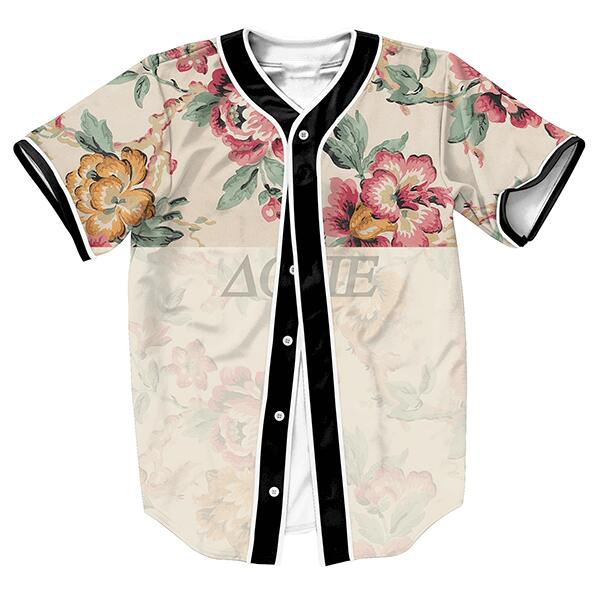 US size Fashion Jerseys Sport Baseball Shirts Men Women Unisex 3D Print Clothes Vintage Flower Dope Top(China (Mainland))