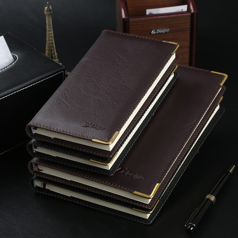 The British Lijia gold business notebook notebook thickened 25K Notepad notes thin the office stationery(China (Mainland))