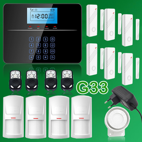 G33 Wireless GSM Intelligent Home Security Alarm System Kit Smart Remote Control w Touch keypad<br><br>Aliexpress