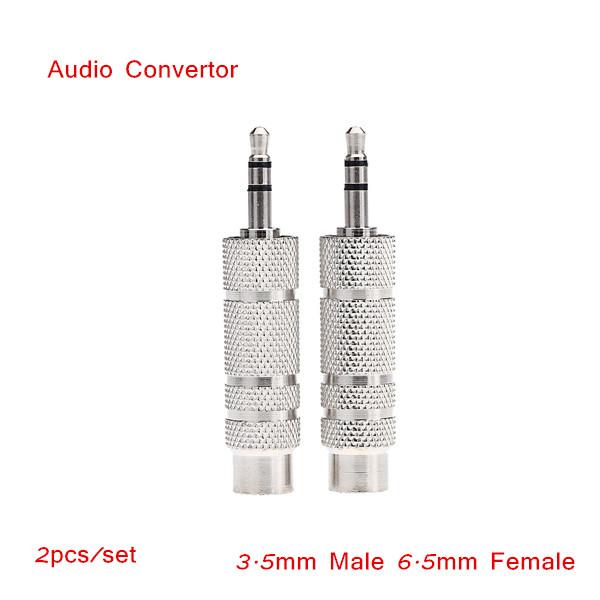 Headphone Audio Jack Adapter Convertor Stereo Audio Plug 3.5mm Male 6.5mm Female Wholesal Retail(China (Mainland))