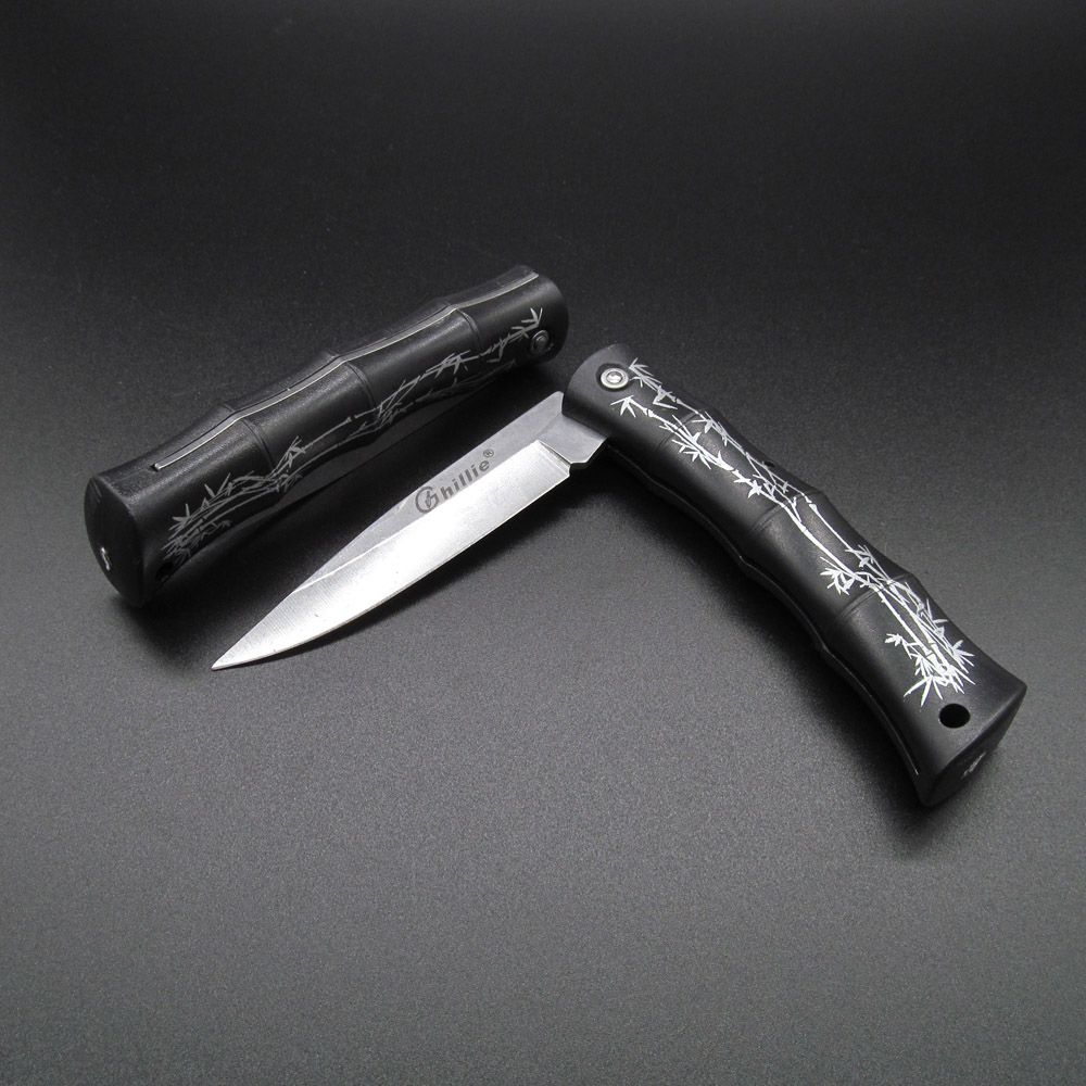 Folding Blade Pocket Knife Mini Fruit Knife Outdoor Camping Hiking Survival Tools ABS Bamboo Handle Gift Knives(China (Mainland))