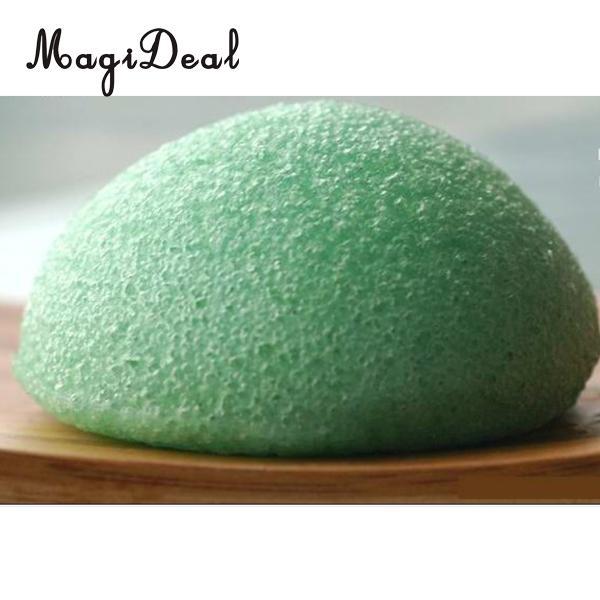 Natural Konjac Konnyaku Fiber Face Facial Cleansing Pad Sponge Wash Puff Green Washing Sponge Exfoliator Sponge Facial Cleanser