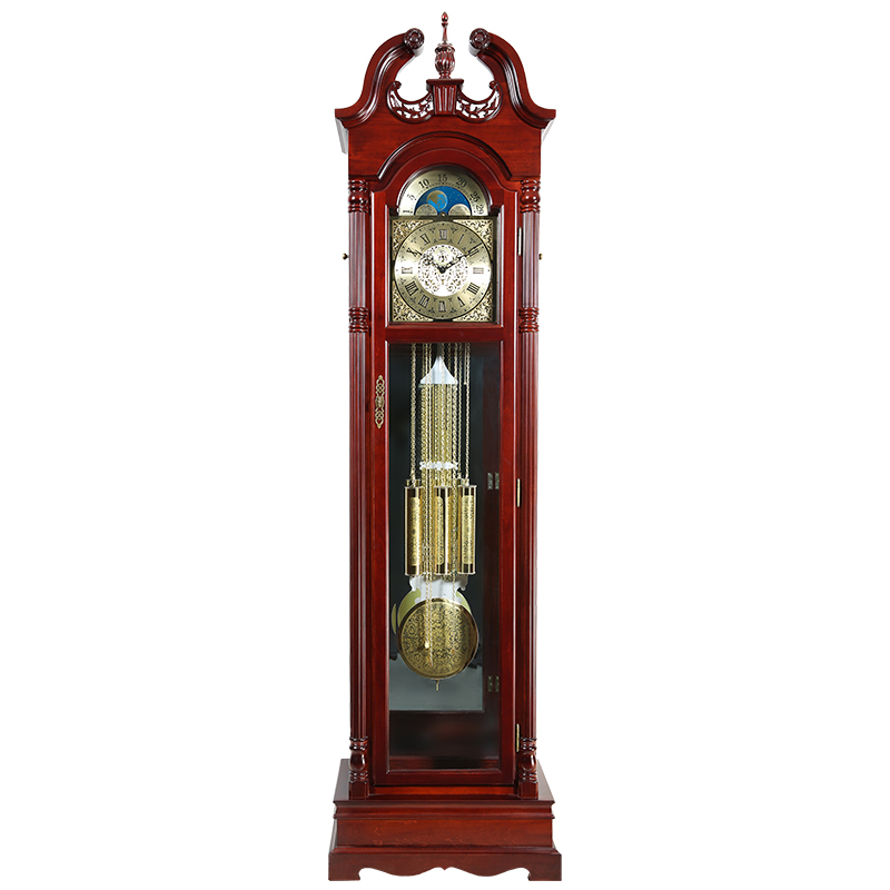 European decorative wood living room floor clock