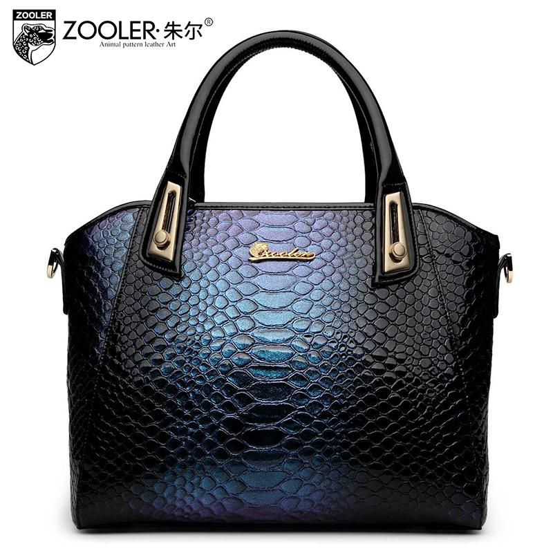 Здесь можно купить  ZOOLER brand genuine leather bag embossed handbag luxury bag ladies noble serpentine shoulder bags handbags women famous brands  Камера и Сумки