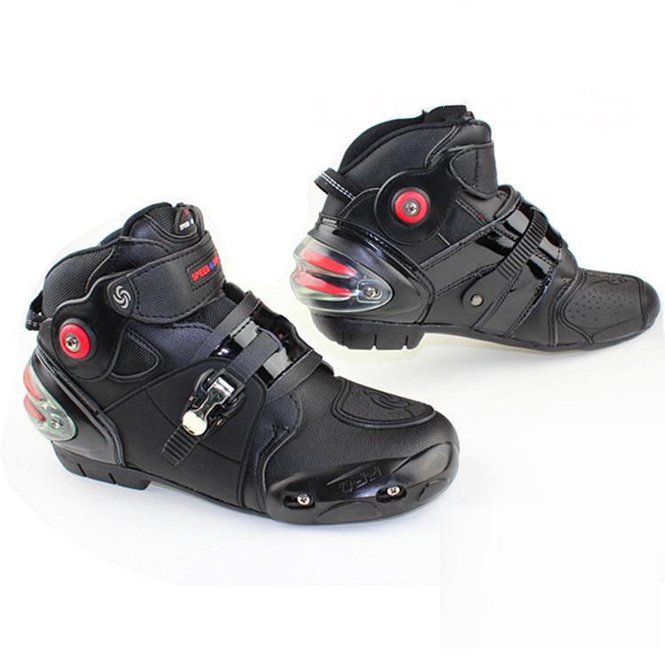 Professional motorcycle boots men motorbiker boots botas motorcycles moto shoes racing pro biker,Size 40-45 black(China (Mainland))