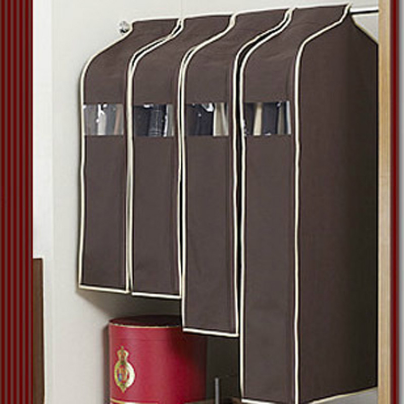 Suit Coat Jacket Cover Garment Bag Storage Protector Clothes Hanging Coffee New 048-2289(China (Mainland))
