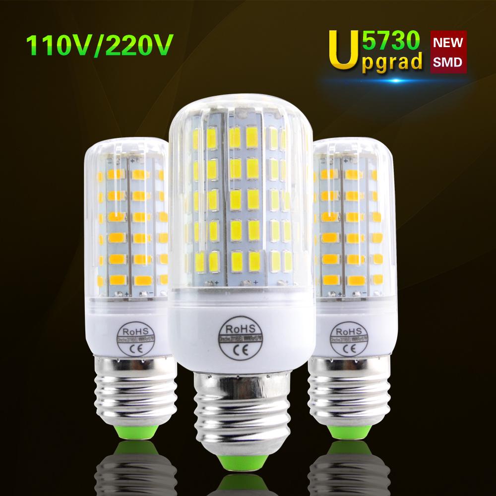 Foxanon New 5730 E27 Led corn lamp 24- 136leds AC 220v 110v bulb light Spotlight Replace 20W 50w 100w 120W Incandescent Lighting(China (Mainland))
