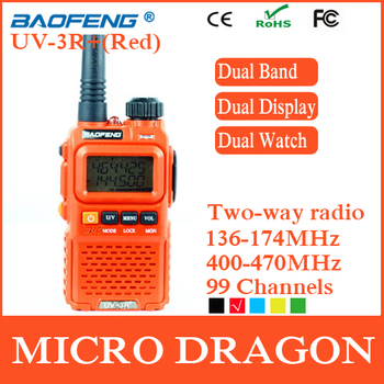 Original BaoFeng UV-3R+ Professional Dual Band Transceiver 99 Channels Two Way Radio Walkie Talkie Transmitter cb Radio Station