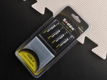 4pcs 100% Original Soshine 14500 AA Li-ion Battery Protected 3.7V 800mAh Rechargeable Batteries with Battery Box