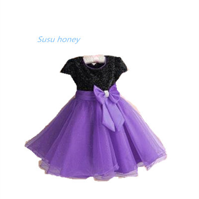 The new Europe and the United States 2014 summer girl girl chiffon dress, a variety of colors to choose A069(China (Mainland))