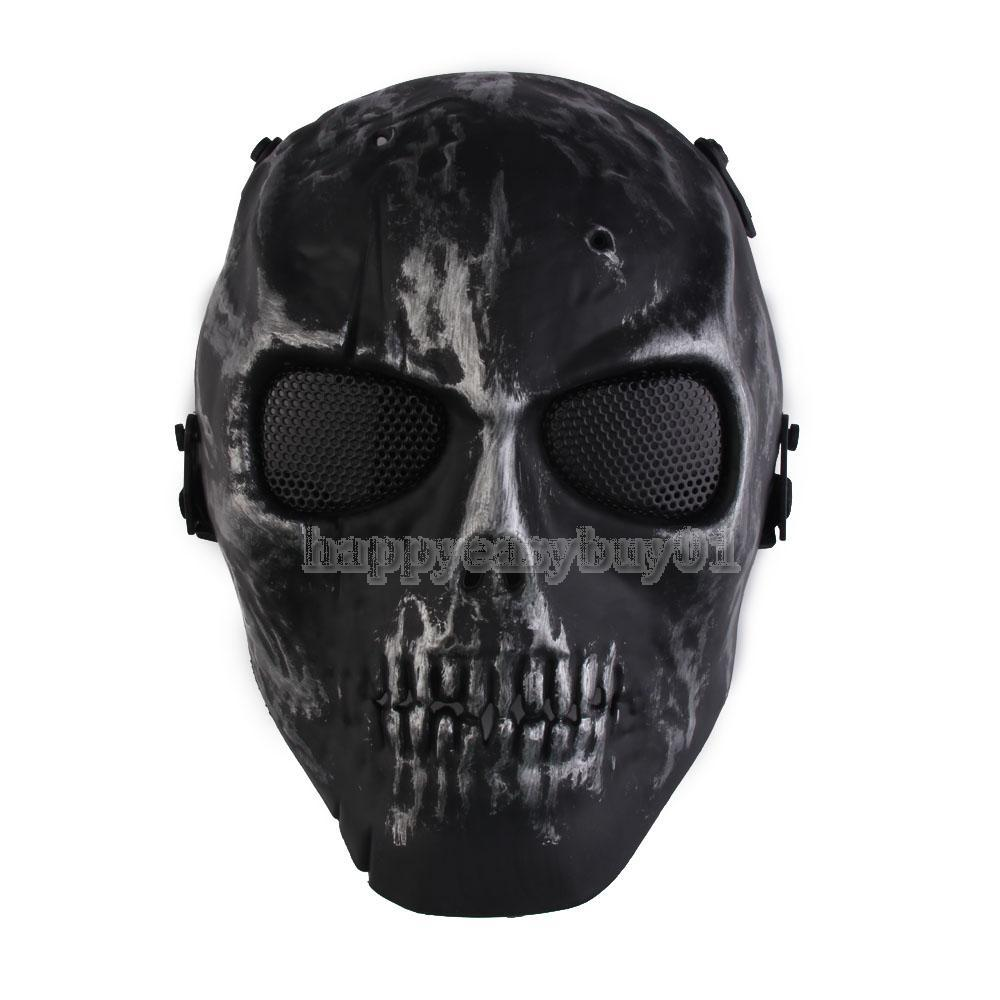Skull Skeleton Airsoft Paintball War Game Full Face Protection Mask Guard H1E1(China (Mainland))