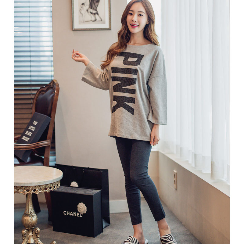 2016 Spring Women Pajamas Sets Sleepwear Loose Ms. Korean Style Long Sleeved pyjamas Girls Night Homewear For Women Nightgown