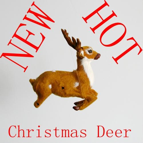 free shipping christmas deer decoration for christmas tree(China (Mainland))