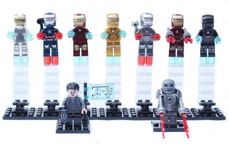 Wholesale 90PCS Super Heroes Iron man War Marchin Tony Stark Iron Patriot Mark 1/35/31/21 Building Block Construction Bricks toy<br><br>Aliexpress