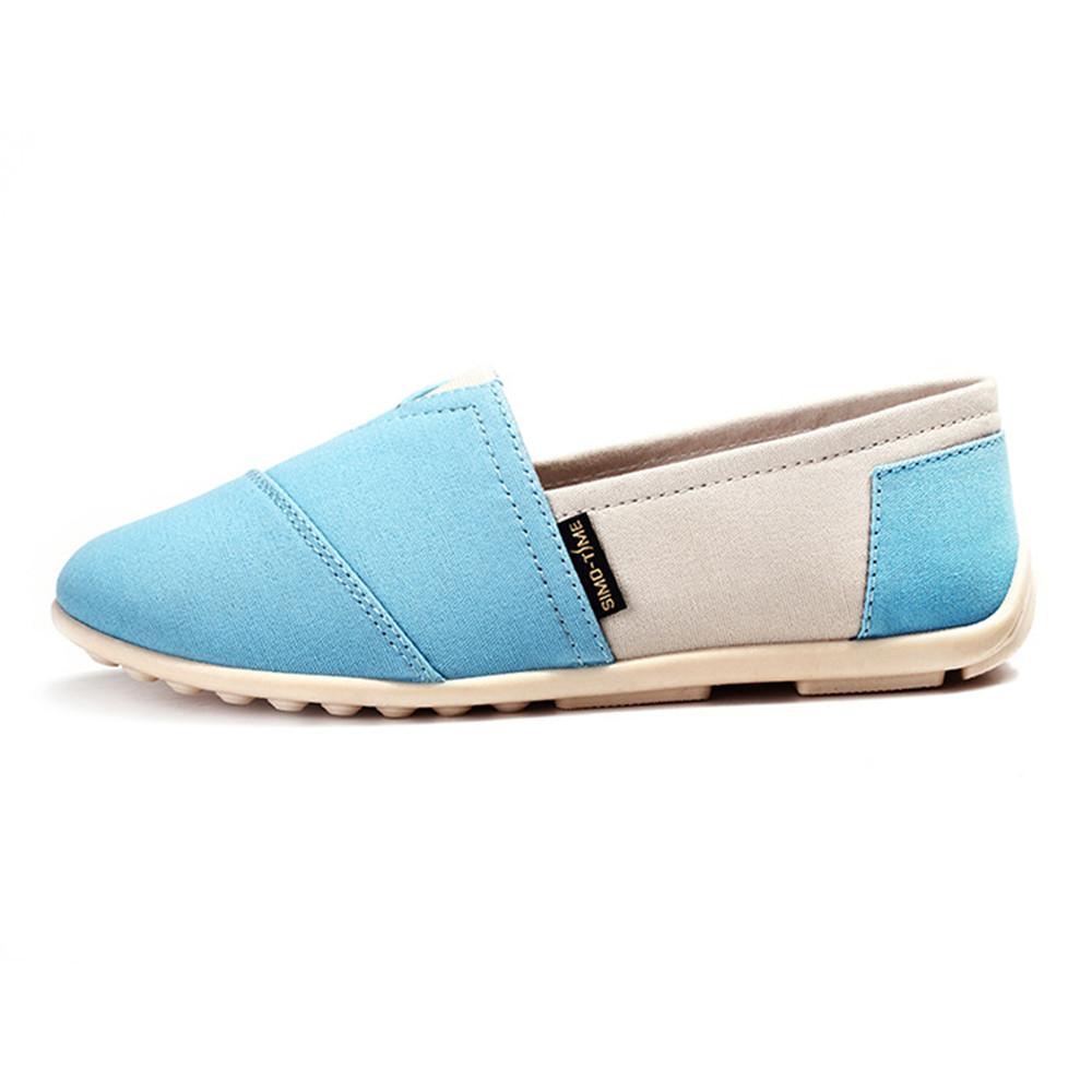 Aliexpress.com Comprar Mujer holgazanes Zapatos planos Slip On Mujer alpargatas de lona de verano 2016 Zapatos Mujer Zapatos casuales Mujer Chaussure Femme