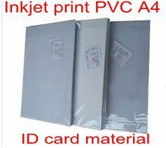 PVC ID card making supplies material Inkjet printable PVC sheets A4 50sets white color 0.76mm thick: 15mm+46mm+15mm