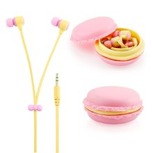 3.5mm in Ear Earphones Earbuds Headset with Macaron Earphone Organizer Box Case for Iphone,for Samsung,for Mp3 Ipod Pc Music(China (Mainland))