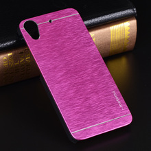 For HTC 626 Case Cover PC+Plastics Metal Brush Aluminum Motomo Hard Back Skin Shell Phone Cases for HTC 626 Cases Cover(China (Mainland))