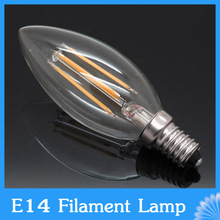 4W 8W E14 220V AC LED Filament Candle Bulbs 360 Degree bulb New Design lamp Replace Incandescent Light Energy Saving Dimmable(China (Mainland))