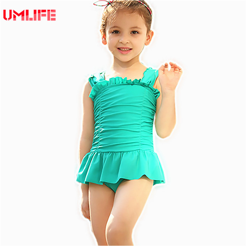 Children Swimwear Girls Bathing Suit 2017 New One-Piece Suits Children's Swimsuit High Quality Kids Swimming Beachwear Clothes(China (Mainland))