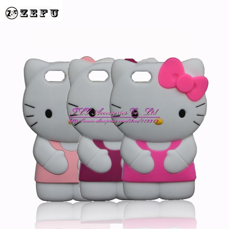 New 3D Hello Kitty Case For Apple iPhone SE 5 5S 5C Soft ...