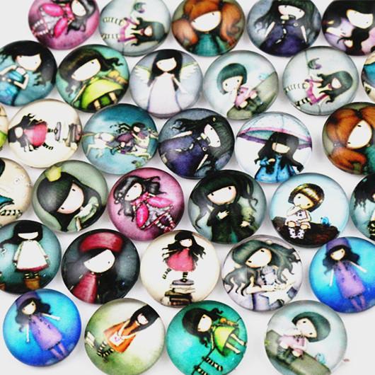 Hot Sale 40pcs 12mm Mixed Handmade Photo Glass Cabochons HX 002 New Fashion