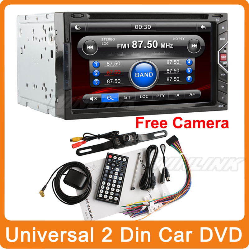 "Gesture Control 6.92"" universal 2 two Din In Dash Car DVD player GPS digital touch screen Radio stereo USB SD BT TV+Free Camera(China (Mainland))"