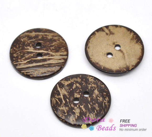 20 Brown Coconut Shell Sewing Buttons 38mm (B13837)8seasons(China (Mainland))